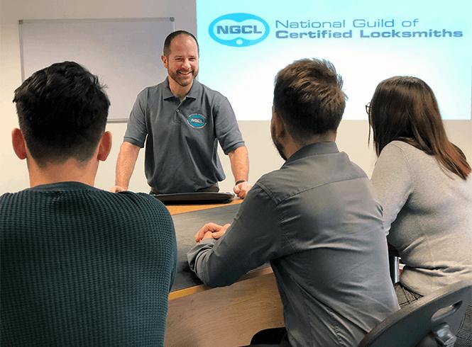 Locksmith teaching students